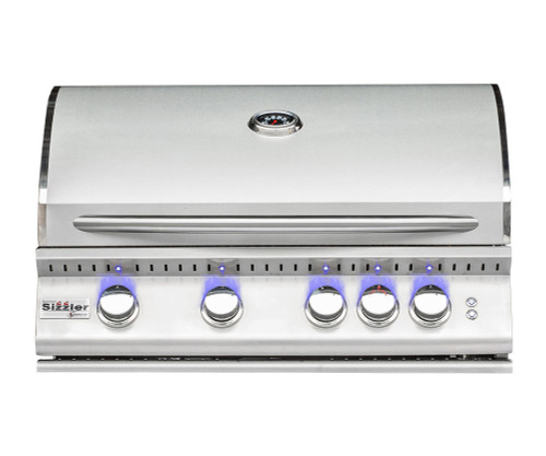 """The Sizzler PRO 32"""" Built in BBQ comes packed with features for an unreal price. Featuring Upgrades like zone separators, LED lighting, and cast burners, with optional rotisserie kit"""
