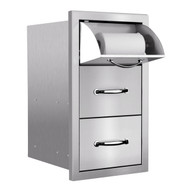 Summerset Masonry Towel 2 Drawer/Door Combo (Masonry Flange) - SSTDC-M