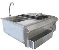 Beefeater Stainless Steel 30 Inch Bar Centre with sink -BS25210