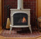 Vermont Castings Intrepid II Wood Burning Stove shown in Bisciuit