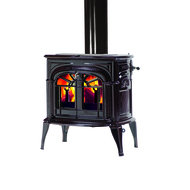 Vermont Castings Intrepid II Wood Burning Stove shown in Majolica Brown