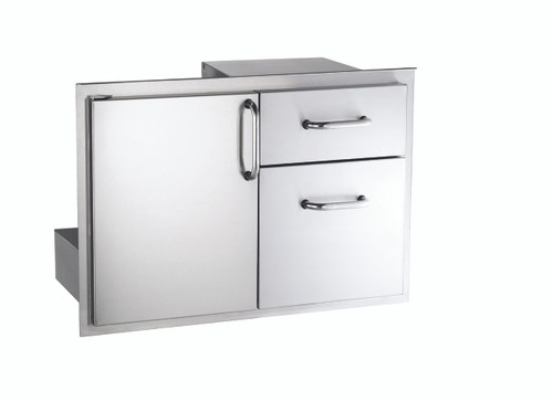 AOG 18-30-SSDD 18x30 Storage Door With Double Drawer