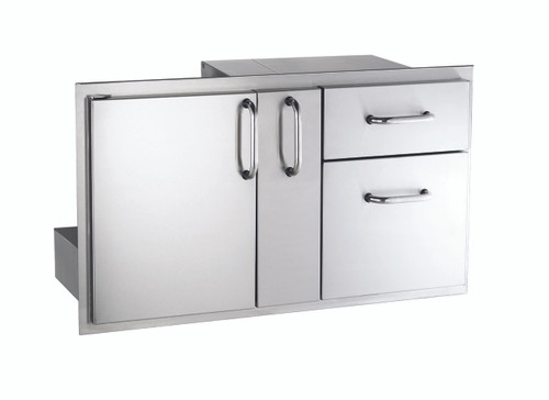 AOG 18 36 SSDD 18x36 Storage Door With Double Drawer And Platter Storage