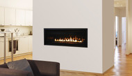 "Astria Sirius 42"" Linear Direct-Vent Gas Fireplace - Contemporary"