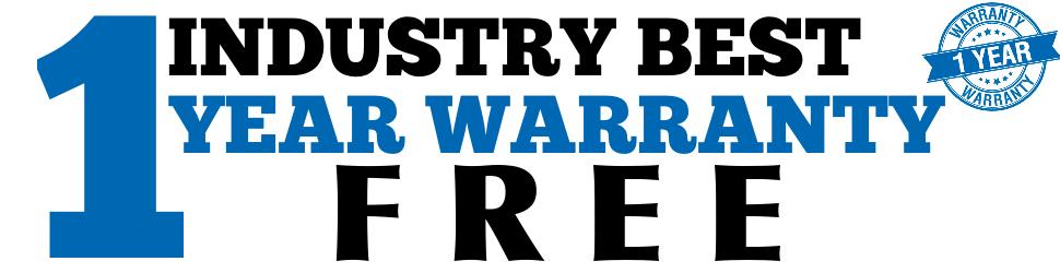 Industry's Best Warranty