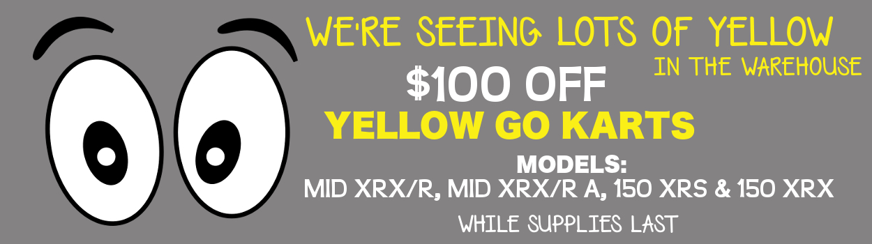SALE - Yellow Go Karts