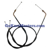 TrailMaster Go Kart Shift Cable Set (2) - Fits Mid XRX-R & Blazer 200R