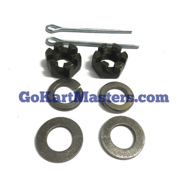 TrailMaster Spindle Nut Kit - 150 & 300 Go Kart