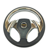TrailMaster 150 XRX Sport Steering Wheel - Black & Chrome