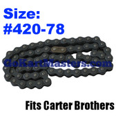Go Kart Chain - Carter Brothers - Fits 2506 - 78 Links