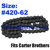 Go Kart Chain - Carter Brothers - Fits 2506 - 62 Links