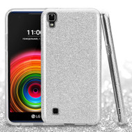 *Sale* Full Glitter Hybrid Protective Case for LG K6 / X Power - Silver