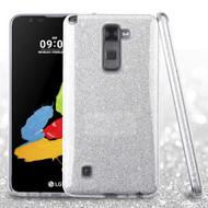 Full Glitter Hybrid Protective Case for LG G Stylo 2 / Stylus 2 / Stylo 2 Plus - Silver