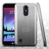 Full Glitter Hybrid Protective Case for LG K20 Plus / K20 V / K10 (2017) / Harmony - Gradient Black