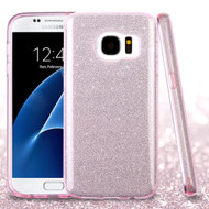 Full Glitter Hybrid Protective Case for Samsung Galaxy S7 - Pink
