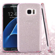 Full Glitter Hybrid Protective Case for Samsung Galaxy S7 Edge - Pink
