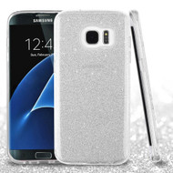 Full Glitter Hybrid Protective Case for Samsung Galaxy S7 Edge - Silver