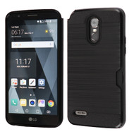 Card To Go Hybrid Case for LG Stylo 3 / Stylo 3 Plus - Black