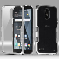 TUFF Panoview Transparent Hybrid Case for LG Stylo 3 / Stylo 3 Plus - Silver