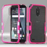 TUFF Panoview Transparent Hybrid Case for LG Stylo 3 / Stylo 3 Plus - Hot Pink