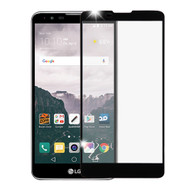 Premium Full Coverage 2.5D Tempered Glass Screen Protector for LG Stylo 2 Plus - Black