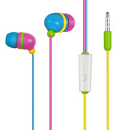 Rainbow Noise Isolating Stereo Headset with Mic
