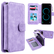 *SALE* Luxury Coach Series Leather Wallet with Removable Magnet Case for Samsung Galaxy S8 Plus - Lavender