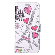 Designer Graphic Leather Wallet Stand Case for Samsung Galaxy S8 - Eiffel Tower