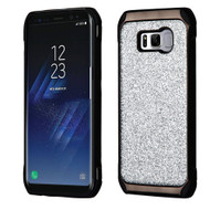 Tough Hybrid Case with Glitter Backing for Samsung Galaxy S8 - Silver