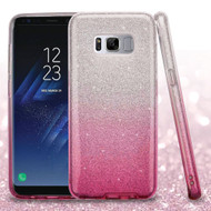 Full Glitter Hybrid Protective Case for Samsung Galaxy S8 Plus - Gradient Hot Pink