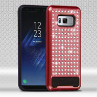 *Sale* Luxury Bling Diamond Hybrid Case for Samsung Galaxy S8 Plus - Red
