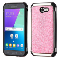 Tough Glitter Hybrid Case for Samsung Galaxy J3 (2017) / J3 Emerge / J3 Prime / Amp Prime 2 / Sol 2 - Pink
