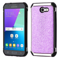 Tough Glitter Hybrid Case for Samsung Galaxy J3 (2017) / J3 Emerge / J3 Prime / Amp Prime 2 / Sol 2 - Purple