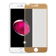 Premium Full Coverage 2.5D Tempered Glass Screen Protector for iPhone 7 Plus - Gold