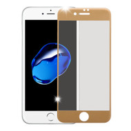 Premium Full Coverage 2.5D Tempered Glass Screen Protector for iPhone 7 - Gold