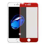 Premium Full Coverage 2.5D Tempered Glass Screen Protector for iPhone 8 / 7 - Red