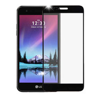 Premium Full Coverage 2.5D Tempered Glass Screen Protector for LG K20 Plus / K20 V / K10 (2017) / Harmony - Black
