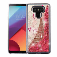 Quicksand Glitter Transparent Case for LG G6 - Eiffel Tower