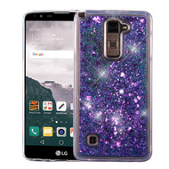 Quicksand Glitter Transparent Case for LG G Stylo 2 / Stylus 2 / Stylo 2 Plus - Purple