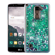 Quicksand Glitter Transparent Case for LG G Stylo 2 / Stylus 2 / Stylo 2 Plus - Teal Green