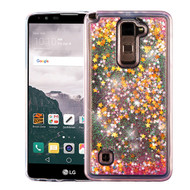 Quicksand Glitter Transparent Case for LG G Stylo 2 / Stylus 2 / Stylo 2 Plus - Pink