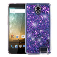 Quicksand Glitter Transparent Case for ZTE Avid Plus / Avid Trio / Maven 2 / Prestige / Sonata 3 - Purple