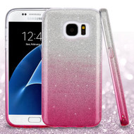 *Sale* Full Glitter Hybrid Protective Case for Samsung Galaxy S7 - Gradient Hot Pink