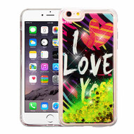 Quicksand Glitter Transparent Case for iPhone 6 Plus / 6S Plus - I Love You