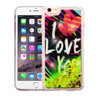 Quicksand Glitter Transparent Case for iPhone 6 Plus / 6S Plus - I Love You