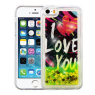 *Sale* Quicksand Glitter Transparent Case for iPhone SE / 5S / 5 - I Love You