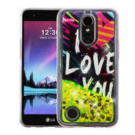 *Sale* Quicksand Glitter Transparent Case for LG K20 Plus / K20 V / K10 (2017) / Harmony - I Love You