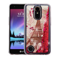 Quicksand Glitter Transparent Case for LG K20 Plus / K20 V / K10 (2017) / Harmony - Eiffel Tower