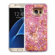 Quicksand Glitter Transparent Case for Samsung Galaxy S7 Edge - Pink