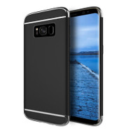 GripTech 3-Piece Chrome Frame Case for Samsung Galaxy S8 - Black